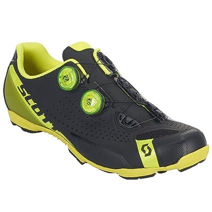Zapatillas de ciclismo Scott MTB RC, color negro y amarillo, matt black/gloss