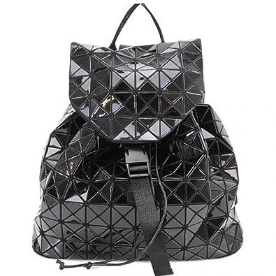 7f7775950fe Linen Galaxy Women Glossy Geo Prism Design Girls School Backpacks Gym  Travel Fancy Bags