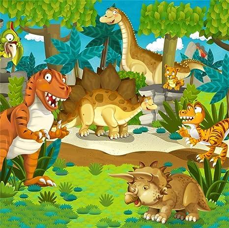 LFEEY 10 x 10 pies dibujos animados dinosaurios fiesta cómic ...