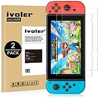 iVoler [2 Stuks] Beschermfolie Compatibel met Nintendo Switch Screen Protector, Film van Gehard Glas Schermbeschermer met [9H-hardheid] [Anti-kras] [Kristalhelder] [Geen bellen]