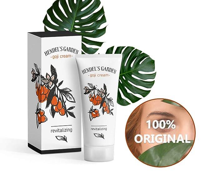 Crema Goji - Crema antienvejecimiento y antiarrugas para pieles más jóvenes para mujeres- de Hendels Garden.