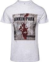 Linkin Park Herren T Shirt Grau Hybrid Theory Album Cover Offiziell