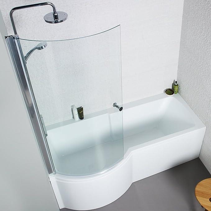Adapt p-shaped ducha bañera con Panel de pantalla curva 1700 x 850 mm mano izquierda: Amazon.es: Hogar