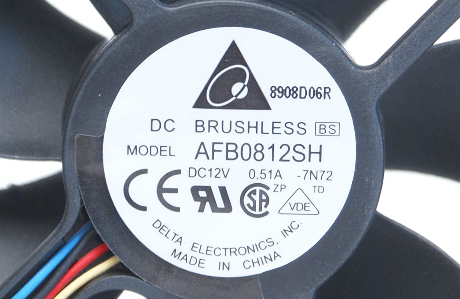 AFB0812SH Genuine OEM Original Delta Electronics DC Brushless AFB0812SH 4-Pin 80 x 25 x 80mm Computer Fan Compatible Model Numbers