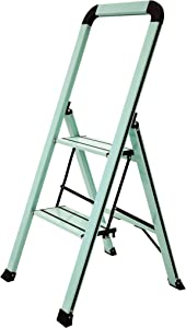 Ascent ADS2-001-TL Series Aluminum 2 Designer Step Stool, Teal