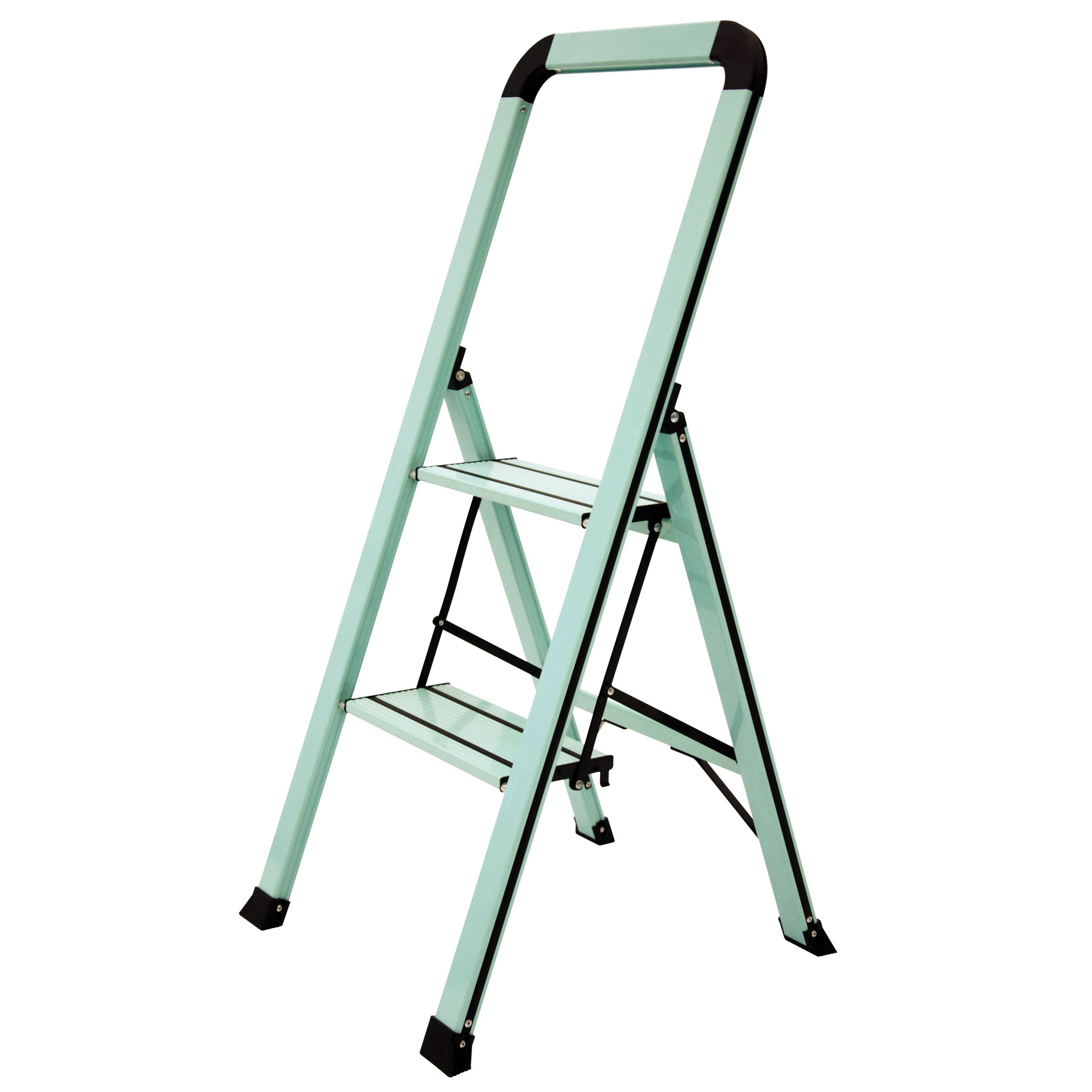Ascent ADS2-001-TL Series Aluminum 2 Designer Step Stool, Teal