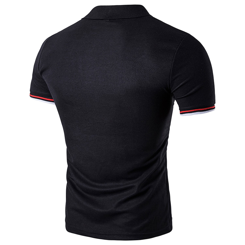 YCHENG Polo Manica Corta Uomo Casuale T-Shirt Poloshirt