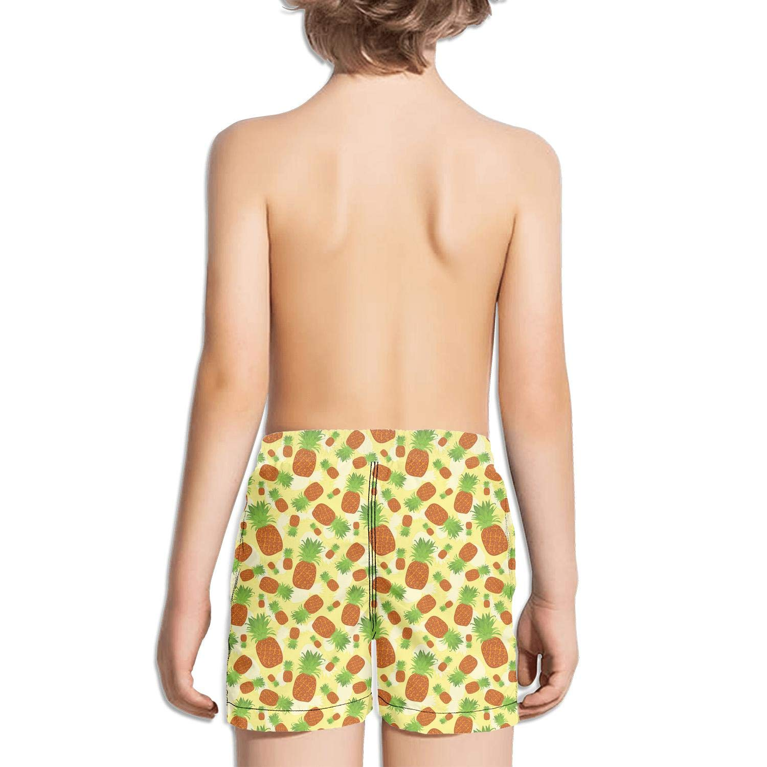 NAIT.2 Shorts Swimming Tucks for Kid Quick Dry Solid Board Core Swimming Tucks Reflex Printed Tropical Fruit Summer Pineapples