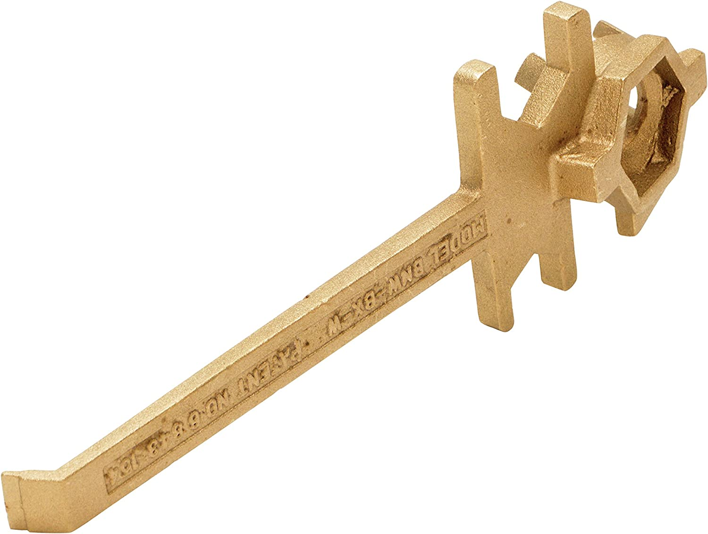 12 Length Vestil BNW-BX-W Non Sparking Bronze Alloy Drum Bung Nut Wrench