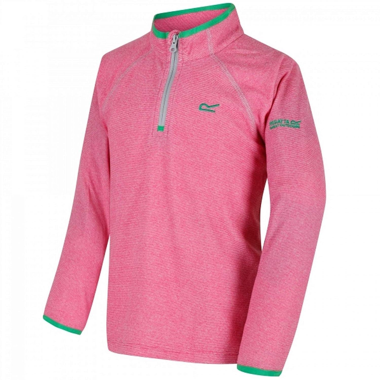 Regatta Boys Girls Loco Half Zip Junior Fleece Top Grey Sports Outdoors
