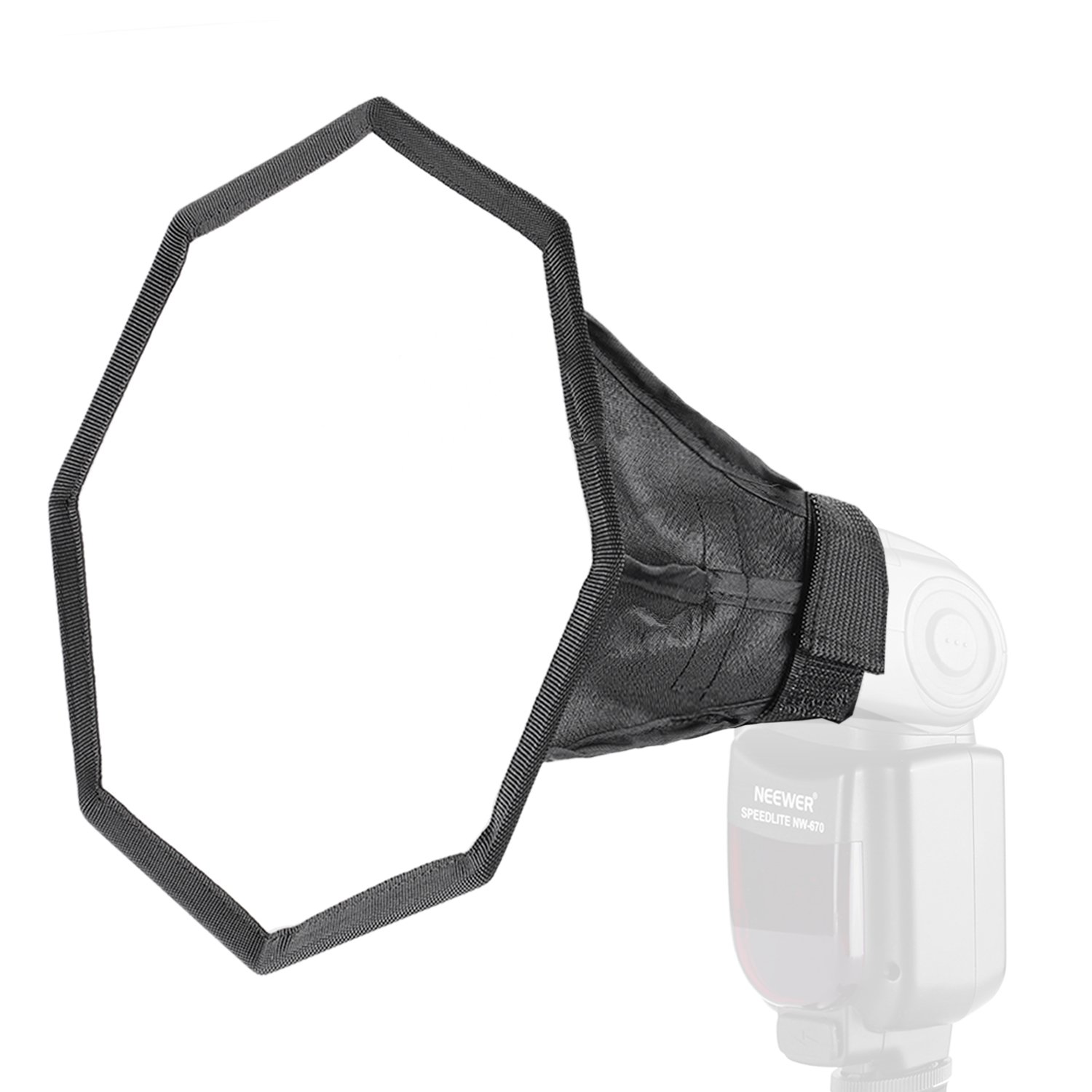 Neewer Pro 8 inches/20 centimeters Universal Collapsible Octagon Studio Softbox Flash Diffuser for On Camera or Off Camera Flash Gun, for Canon, Nikon, Sunpack, Nissin, Sigma, Sony, Panasonic Lumix Flashes by Neewer