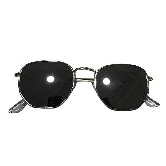 2f21c67cd5 Ketamyy Unisexo Retro Marco De Meta Colorido Gafas De Sol Cuadradas Gafas  Sol Aviador Polarizados Blanco/Plateado Marco Talla única: Amazon.es: Ropa  y ...