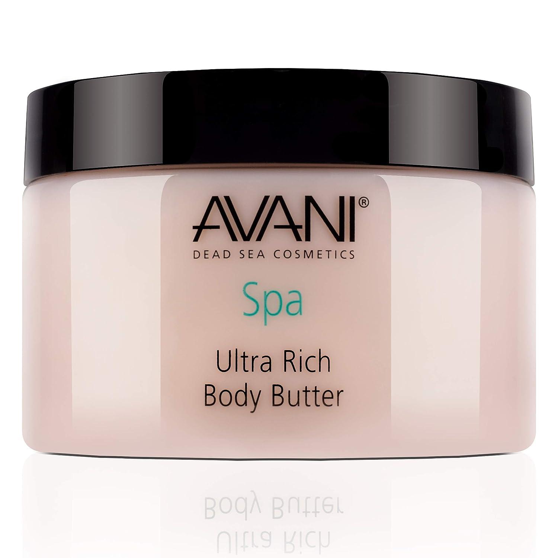 AVANI Classics Dead Sea Ultra Rich Body Butter | Includes Shea Butter, Aloe Vera, Essential Oils | Leaves Skin Soft & Silky Smooth | Milk and Honey - 9.35 oz.