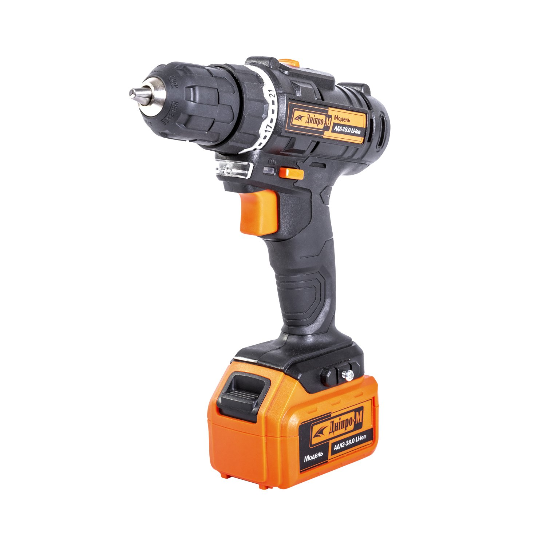 Cordless Drill - screwdriver rechargeable Dnipro-M ADL 18.0 V Li-lon 1.5 A / h IP20 0.81 kg