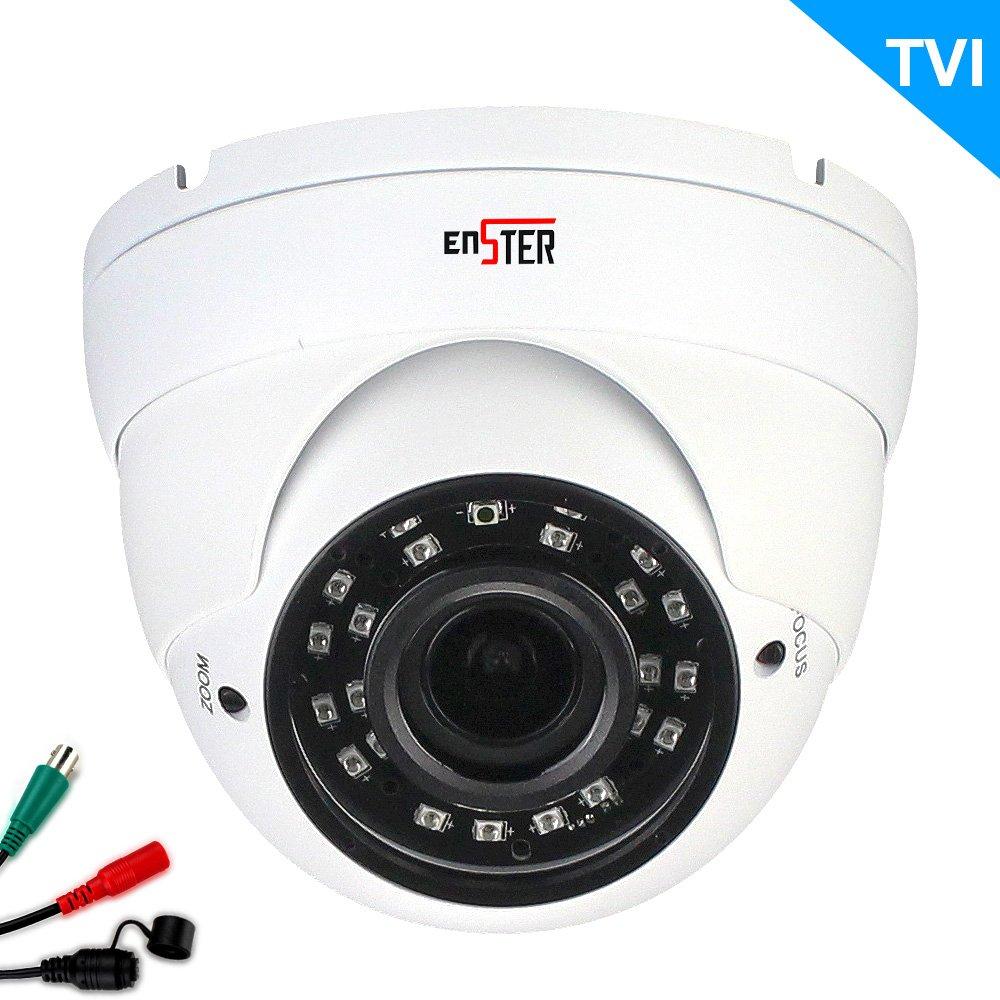 金属眼球ドームカメラ200万画素 $number 1080 p 解像度スターライト WDR 低照度色 4-1/デュアル出力オートフォーカス 2.8-12 mm 自動レンズ Enster B01KT1QPNK
