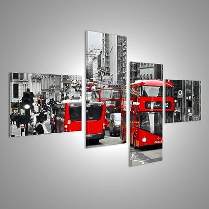 Quadri moderni LONDRA, REGNO Kindgom Londra rosso a due piani in ...