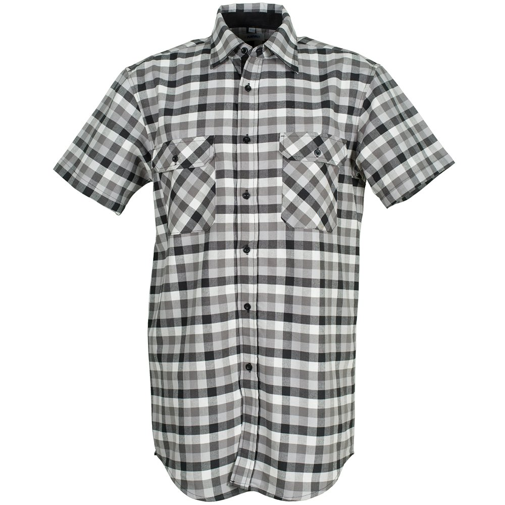 Planam 486039 Hemd'Country' Safety Overall, Black Checked, 39/40