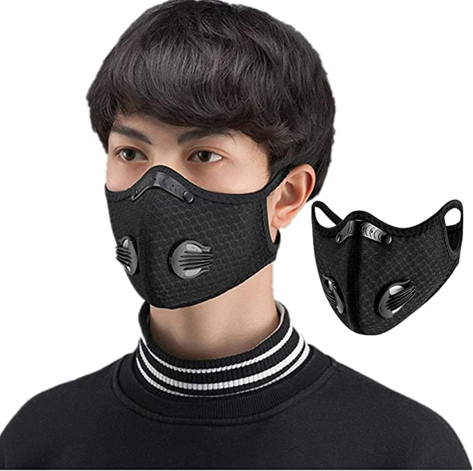 Cycling Protective Mouth-muffle Face Shield Haze Fog Mouth Cover With Filter USA