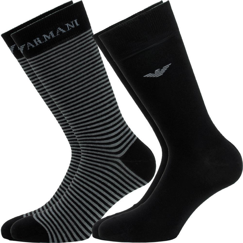 57e7f194fbd Bipack kurze Socke 2 EMPORIO ARMANI CC114 Große 40 302302-00020 45 Oberst  schwarz  Amazon.co.uk  Clothing