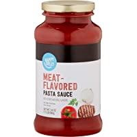 Amazon Brand - Happy Belly Meat-Flavored Pasta Sauce, 24 oz (Previously Solimo)