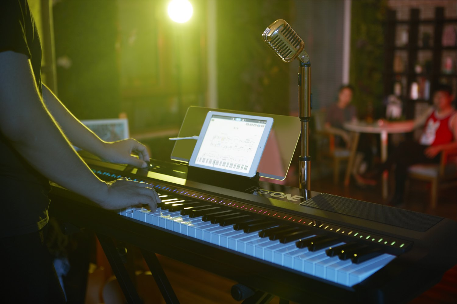 The ONE Music Group 88-Key Portable Piano Electronic MIDI Keyboard Weighted Action Digital Piano, Grace White by The ONE Music Group (Image #4)