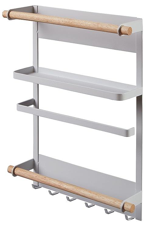 Supporto a mensole Porta spezie per cucina sempre ordinato Organizzatore  Mobiletto per Spezie Porta rotolo da parete salvaspazio in metallo ...
