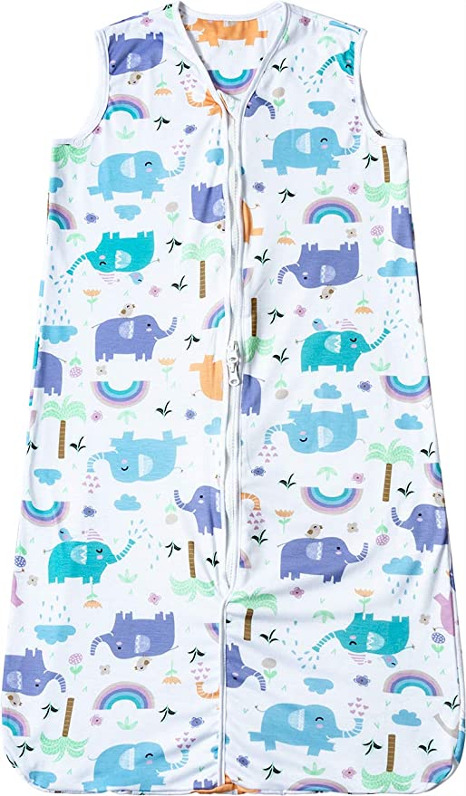 Saco de Dormir para Bebés Niños Niñas Algodón Longitud Ajustable Saco de Dormir de Bebe de Verano 3-18 Meses: Amazon.es: Bebé