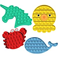 4PACK Animals Push Pop Bubble ,Sensory Fidget Toy,Stress Relever Toy,Poke Pop Toys for Autism Needs Stress/Anxiety…