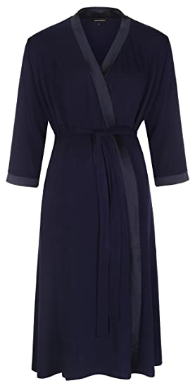 8f9bb03dce Mirage Maternity Dressing Gown in Navy (Small (UK 8))  Amazon.co.uk ...