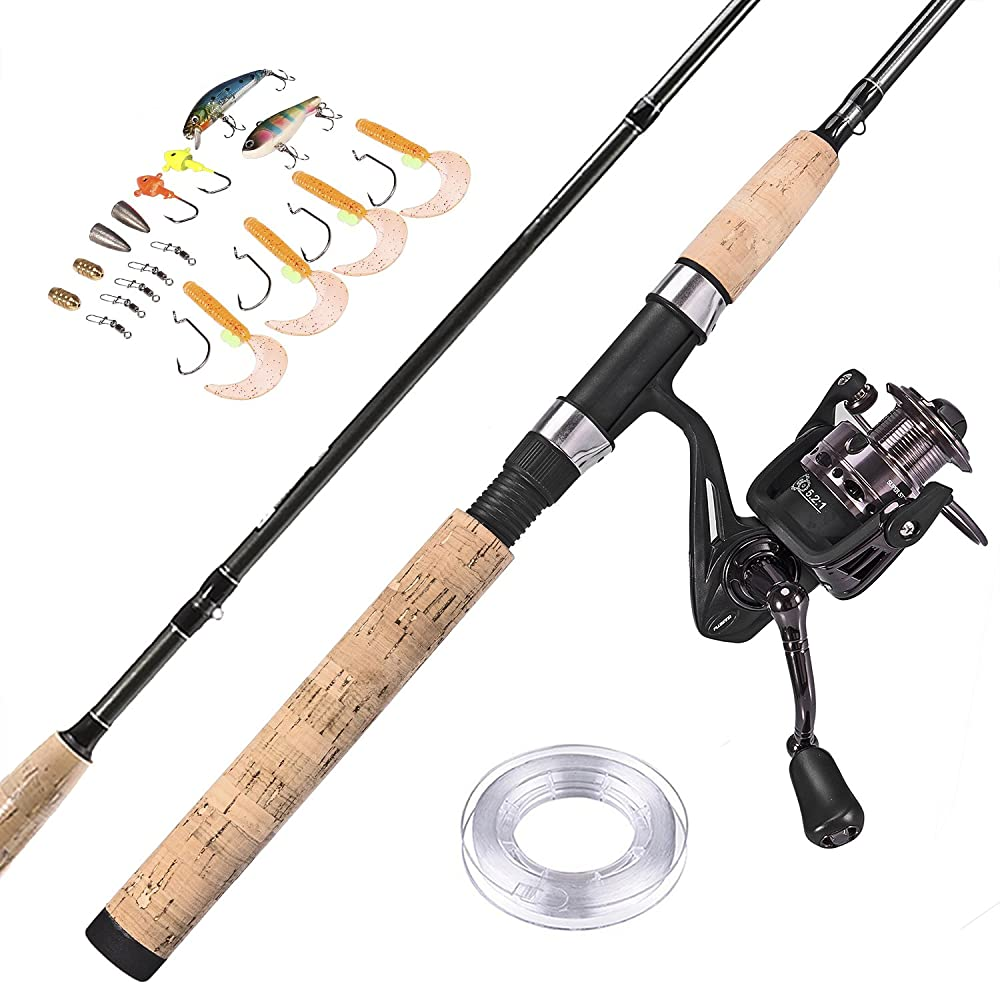 PLUSINNO Spinning Rod and Reel Combos FULL KIT