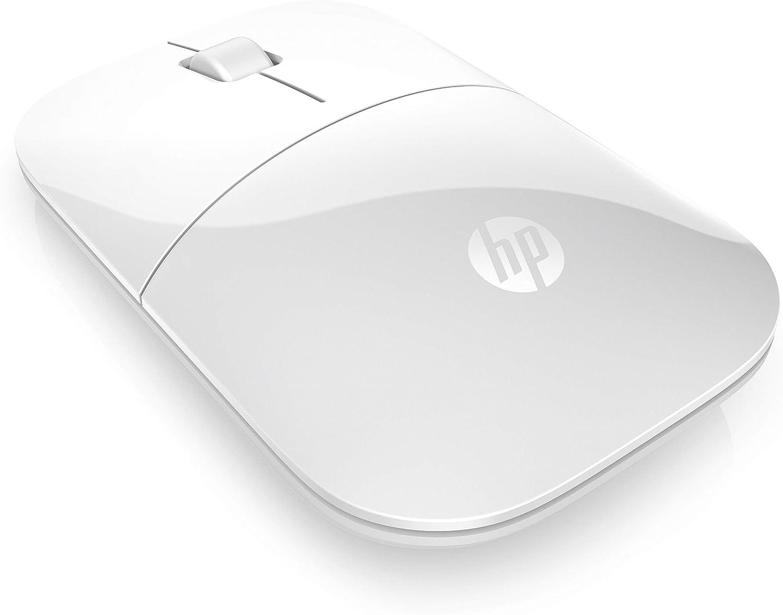 HP Z3700 RF Raton óptico inalámbrico 1200DPI Blanco (Ambidiestro) - Ratón (RF inalámbrico, Oficina, Botones, Rueda, Óptico, Pilas)