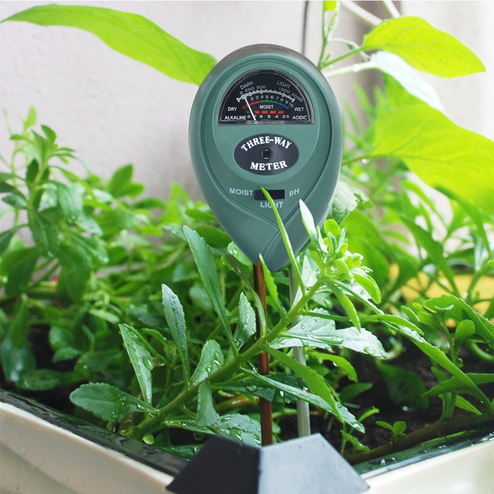 Soil Tester Meter 3-in-1 by Alotpower, Moisture, pH ,Light Meter Plant Tester for Indoor and Outdoor Plants