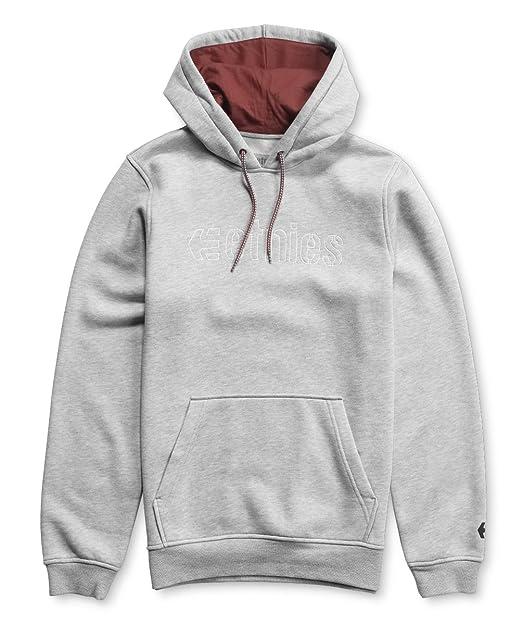 Etnies - Kids - Corp Stitch Pullover Hoody, Sudadera de Hombre, Hombre, Sudadera, Grigio (Grey Heather 15), Small: Amazon.es: Ropa y accesorios