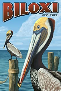 product image for Biloxi, Mississippi, Brown Pelican 78402 (16x24 SIGNED Print Master Art Print, Wall Decor Poster)