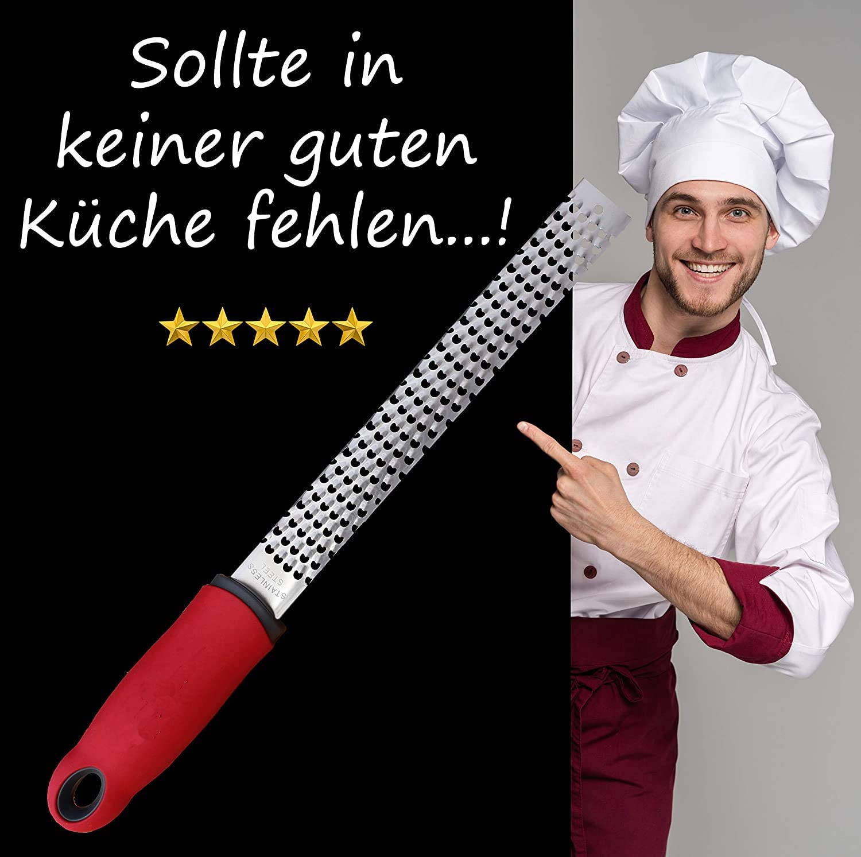 Fiyuer rallador de Queso 2 Pcs rallador de Cocina Profesional con Cepillo de Limpieza y Tapa de protecci/ón