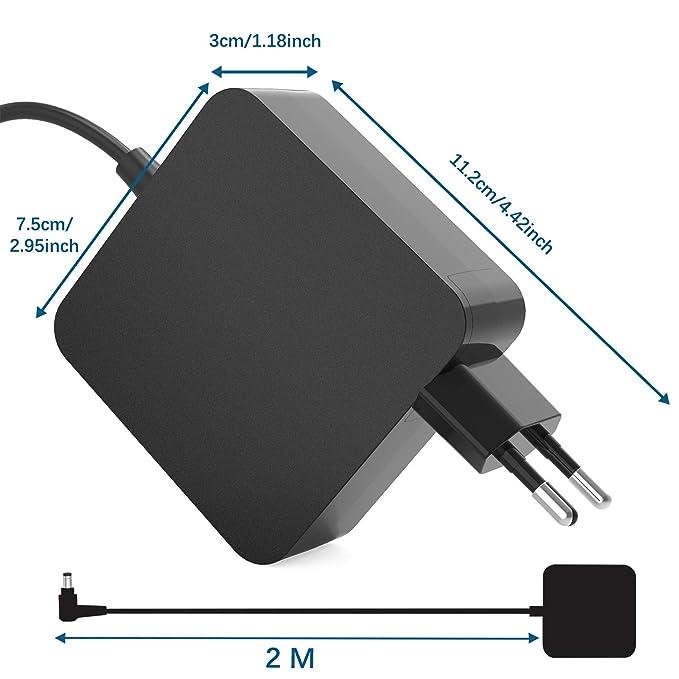 New Pow 65W Fuente de alimentación Delgada del Adaptador de CA del Cargador portátil del Ordenador portátil para ASUS X552 X552E X552EA X552W X552WA ...