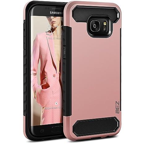 BEZ Funda Samsung Galaxy S7 Edge, Carcasa Compatible para Samsung S7 Edge, Ultra Híbrida Gota Protección, Cover Anti-Arañazos con Absorción de Choque ...