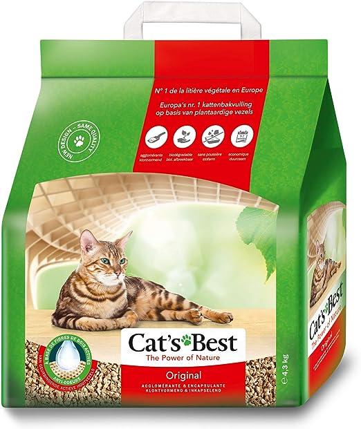 Cats Best Lecho para gatos Öko Plus, 10L (4.3 kg): Amazon.es: Productos para mascotas