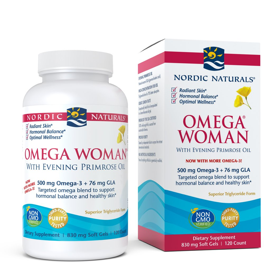 Nordic Naturals - Omega Woman, Evening Primrose Oil Blend, 120 Soft Gels by Nordic Naturals