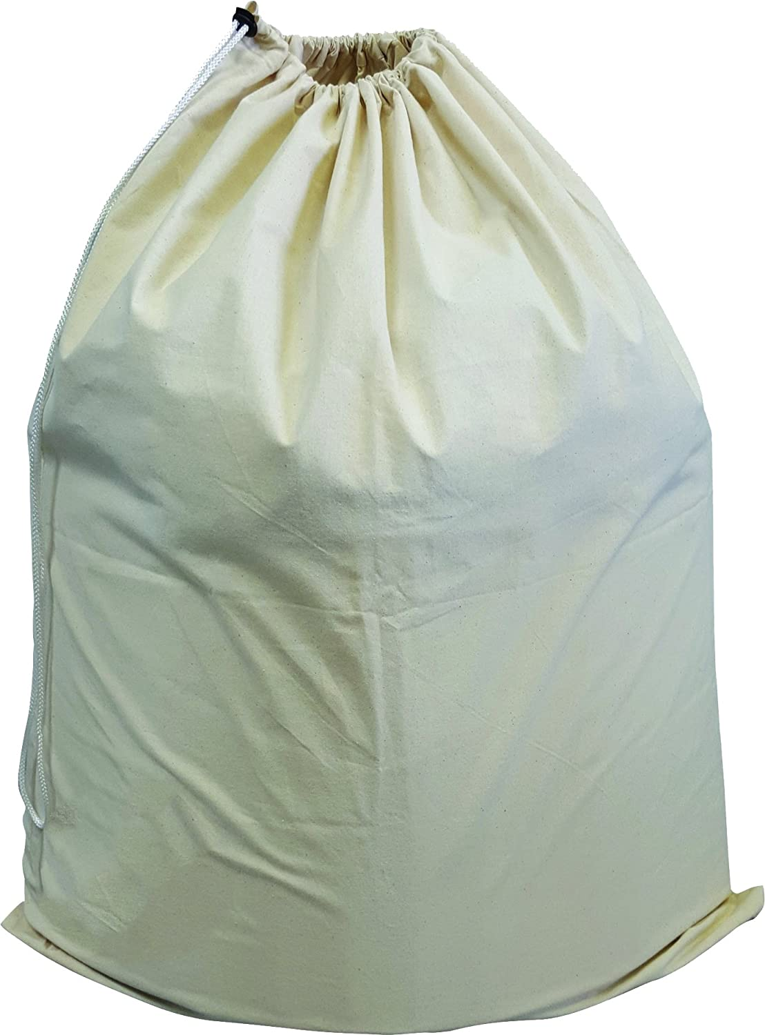 Green Earth Bags Extra Large Cotton Canvas Laundry Bag, 28 x 36 with Drawstring Closure, Washable Fiberlinks Textiles Inc GEB2836/ALB/1
