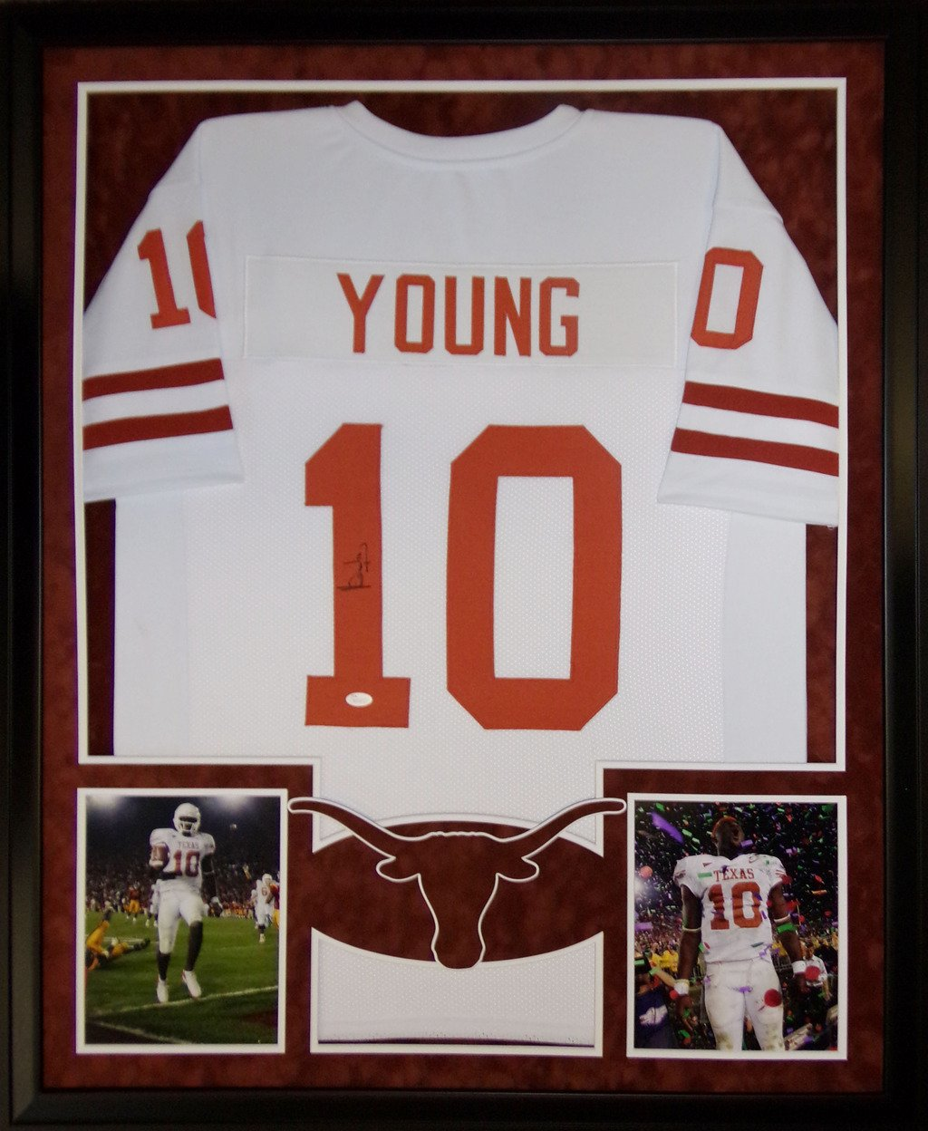 competitive price 696f4 f886e Vince Young Framed Jersey Signed JSA COA Autographed Texas ...