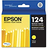 Epson - T124420 (124) Moderate Capacity Ink, Yellow - EPST124420