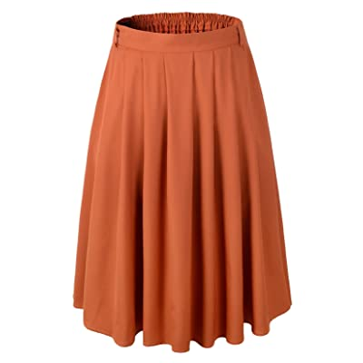 1950s Vintage Rockabilly Swing A-line Pleated Skirt at Women's Clothing store