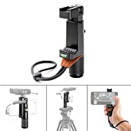 Sevenoak SK-PSC1 Smartphone Grip Handle Rig with Wrist Strap, Tripod Mount & Cold Shoe Mount for Lights and Microphones for iPhone Smartphone for iPhone, Samsung, HTC, LG, Google, Android