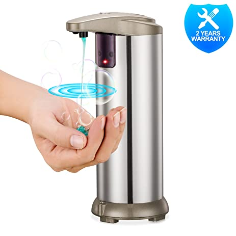 Captivating Automatic Soap Dispenser, Stainless Steel Touchless Hand Free Motion Sensor  Autosoap Dispenser For Kitchen And