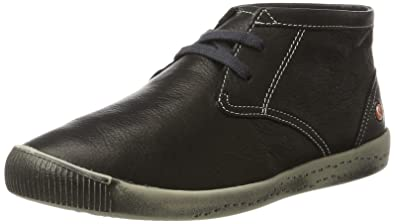 Softinos Damen Indira Smooth Chukka Boots, Schwarz (Black), 38 EU