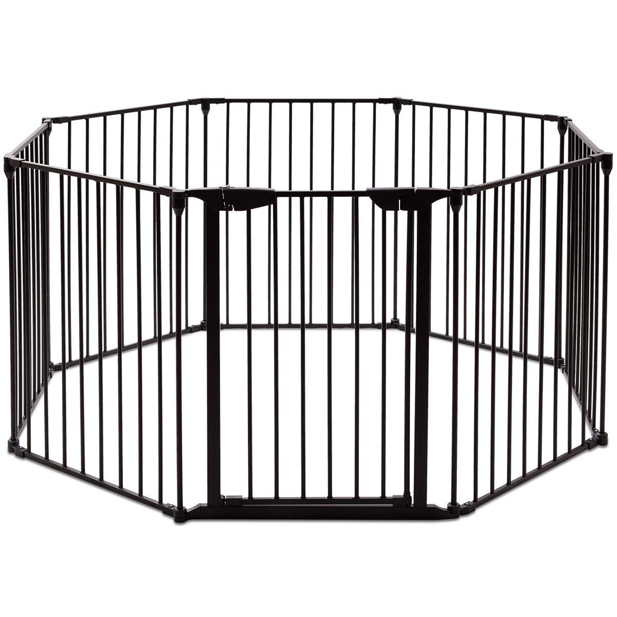 Barrière de Sécurité Enfant Bébé Grille de Protection Cheminée Pare-Feu de Cheminée 8 Pans (blanc) Blitzzauber 24