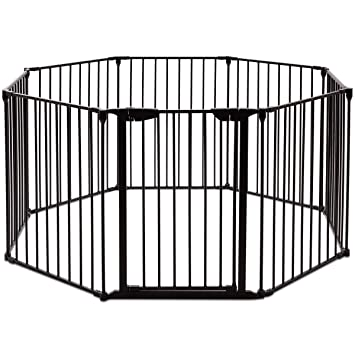 Amazon Com Costzon Baby Safety Gate 3 In 1 Fireplace Fence Wide