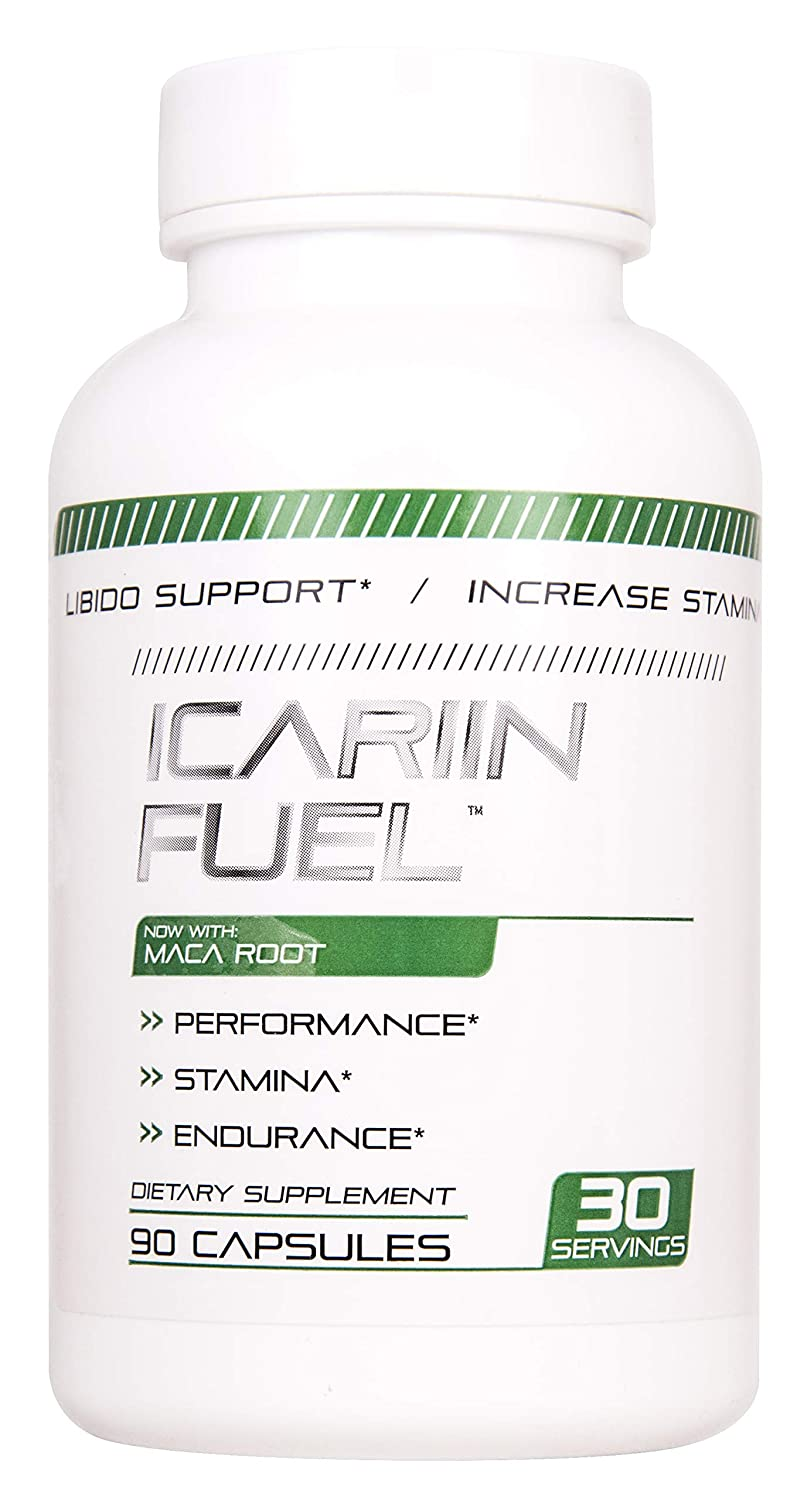 Icariin Fuel Male Enhancing Pills (1 Month Supply) - Enlargement Booster for Men - Increase Size, Strength, Stamina - Energy, Mood, Endurance Boost - All Natural Performance Supplement - Made in USA