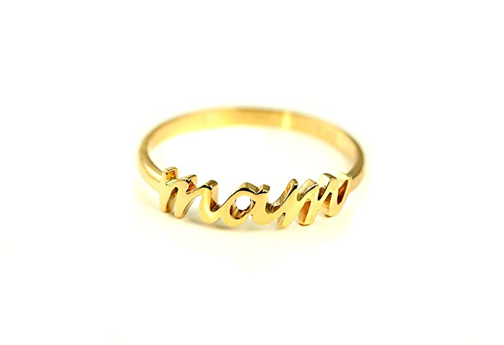 Personalised Name Ring in 9 ct Yellow Gold